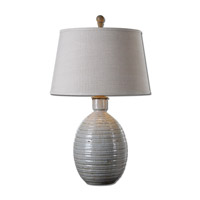 Uttermost Evigan 1 Light Table Lamp in Blue Ceramic 26954