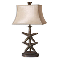 Uttermost 26997 Starfish 30 inch 150 watt Antiqued Gold Table Lamp Portable Light