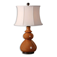 Uttermost Belfast Table Lamp in Crackled Tomato Red Porcelain 26999