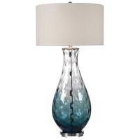 Uttermost 27051-1 Vescovato 38 inch 150 watt Plated Brushed Nickel Lamp Portable Light