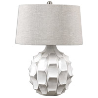 Uttermost 27052 Guerina 27 inch 150 watt White Lamp Portable Light
