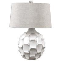 Uttermost 27052 Guerina 27 inch 150 watt White Lamp Portable Light