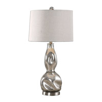 Dovera 29 inch 150 watt Polished Nickel Lamp Portable Light