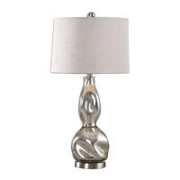 Uttermost 27055-1 Dovera 29 inch 150 watt Polished Nickel Lamp Portable Light
