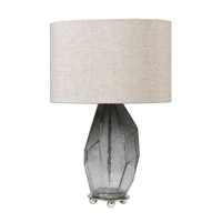 Uttermost 27056-1 Stazzona 25 inch 150 watt Crackle Gray Lamp Portable Light thumb