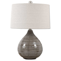 Uttermost 27057-1 Batova 25 inch 150 watt Smoke Gray Lamp Portable Light