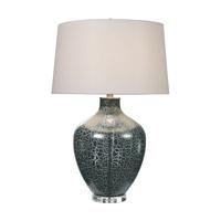 Uttermost 27061 Zumpano 30 inch 150 watt Iridescent Gray Table Lamp Portable Light