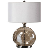 Uttermost 27066-1 Piadena 27 inch 150 watt Polished Nickel Lamp Portable Light