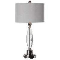 Uttermost 27067-1 Torlino 31 inch 150 watt Polished Nickel Lamps Portable Light