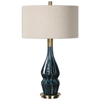 Uttermost 27081-1 Prussian 32 inch 150 watt Blue Lamp Portable Light