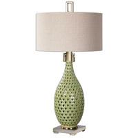 Uttermost 27082-1 Chamoru 36 inch 150 watt Green Glaze Lamp Portable Light
