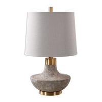 Uttermost 27083 Volongo 27 inch 150 watt Stone Ivory Lamp Portable Light