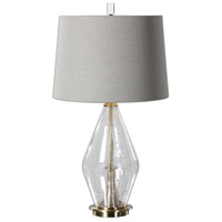Uttermost 27086 Spezzano 29 inch 150 watt Plated Brushed Brass Lamp Portable Light