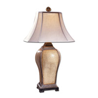 Baron 33 inch 100 watt Ivory Crackle Table Lamp Portable Light