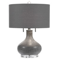 Uttermost 27097-1 Canelo 21 inch 60 watt Black Lamp Portable Light