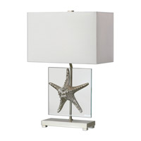 Uttermost Silver Starfish 1 Light Table Lamp in Silver Starfish 27101-1