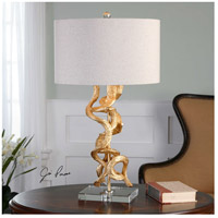 Uttermost 27113-1 Twisted Vines 29 inch 100 watt Gold Table Lamp Portable Light 27113-1.jpg thumb