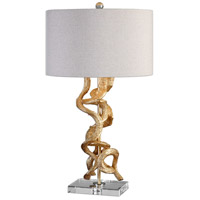 Uttermost 27113-1 Twisted Vines 29 inch 100 watt Gold Table Lamp Portable Light