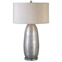 Uttermost 27121-1 Tartaro 32 inch 150 watt Industrial Silver Table Lamp Portable Light