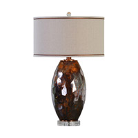 Uttermost Bronze Crystal Table Lamps