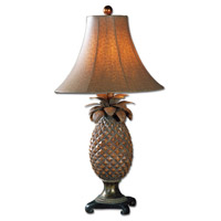 Anana 31 inch 100 watt Brown Glaze Bronze Accents Table Lamp Portable Light
