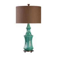 Uttermost 27144-1 Timavo 33 inch 150 watt Teal Ceramic Table Lamp Portable Light