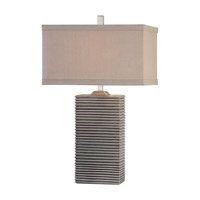 Pale Blue Linen Table Lamps