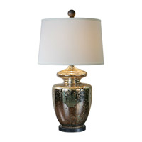 Antiqued Mercury Glass Fabric Table Lamps