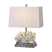 Coral 22 inch 100 watt Taupe Ivory Table Lamp Portable Light