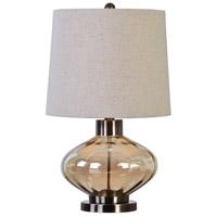 Uttermost 27185-1 Sava 26 inch 150 watt Plated Brushed Nickel Lamp Portable Light