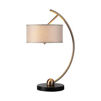 Vardar 32 inch 60 watt Brass Table Lamp Portable Light