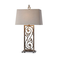 Uttermost Catania 1 Light Table Lamp in Aged White 27209