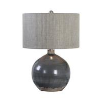 Uttermost 27215-1 Vardenis 24 inch 150 watt Gray Ceramic Table Lamp Portable Light thumb