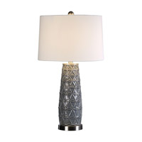 Uttermost 27219 Cortinada 27 inch 150 watt Stone Gray Table Lamp Portable Light