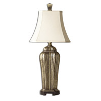 Uttermost Sanchiel Tall Table Lamp in Broken Warm Antiqued Silver Leaf 27222