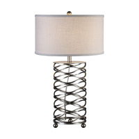 Serpentine 30 inch 150 watt Burnished Silver Table Lamp Portable Light