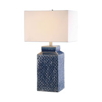 Pero 27 inch 150 watt Sapphire Blue Table Lamp Portable Light