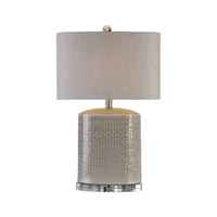 Modica 26 inch 100 watt Taupe Ceramic Table Lamp Portable Light
