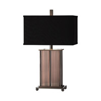 Seyburn 28 inch 150 watt Antiqued Copper Table Lamp Portable Light