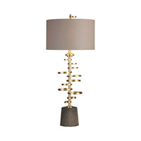 Lostine 37 inch 150 watt Antiqued Gold Table Lamp Portable Light