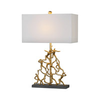 Golden Gymnasts 28 inch 150 watt Gold/Charcoal Table Lamp Portable Light