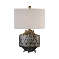 Kavala 26 inch 100 watt Charcoal Gray Glaze Charcoal Lamp Portable Light