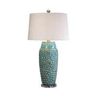 Uttermost Hermosa 1 Light Table Lamp in Sky Blue Ceramic 27273