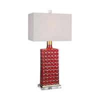 Uttermost Alimos 1 Light Table Lamp in Red Ceramic 27275-1