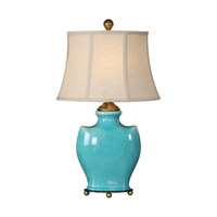 Solana 25 inch 100 watt Antique Light Blue Lamp Portable Light