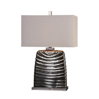 Uttermost Hoffler 1 Light Table Lamp in Brushed Nickel 27306-1