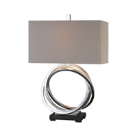 Uttermost Soroca 1 Light Table Lamp in Silver 27310-1
