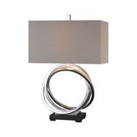 Uttermost 27310-1 Soroca 28 inch 150 watt Silver Table Lamp Portable Light