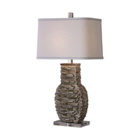 Uttermost 27319-1 Clavin 31 inch 150 watt Table Lamp Portable Light Stack Textured Jim Parsons