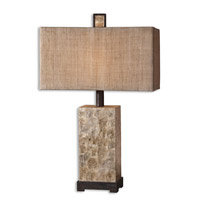 Rustic Pearl 29 inch 100 watt Antiqued Mother Of Pearl Shell Table Lamp Portable Light